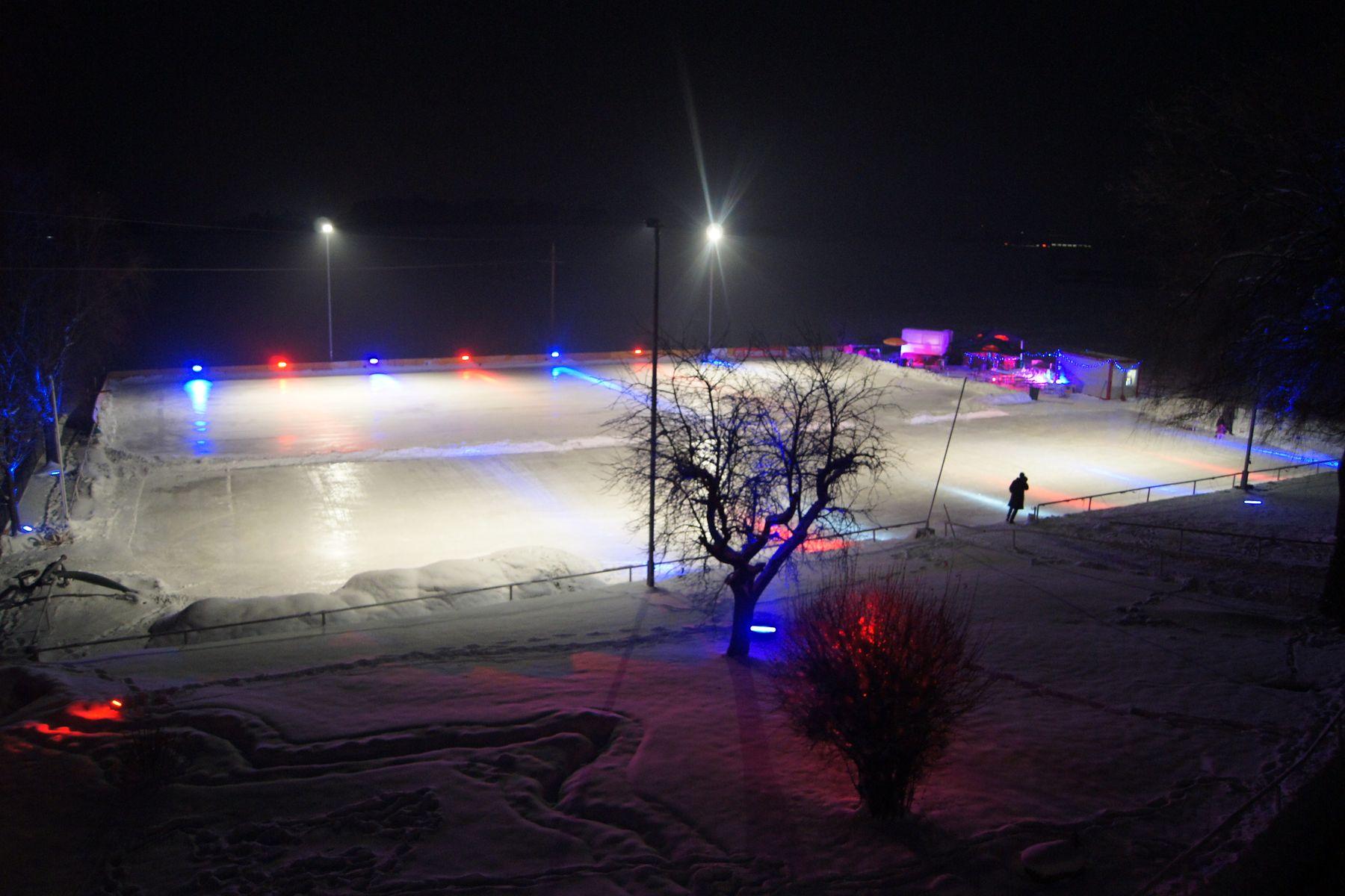 Reitschule Mösl-Haregg, Eislaufen im Winter